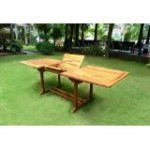 Table de jardin en teck huilé : 10 places de Wood-en-Stock