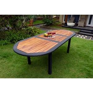 table-teck-resine-tressee-wood-en-stock